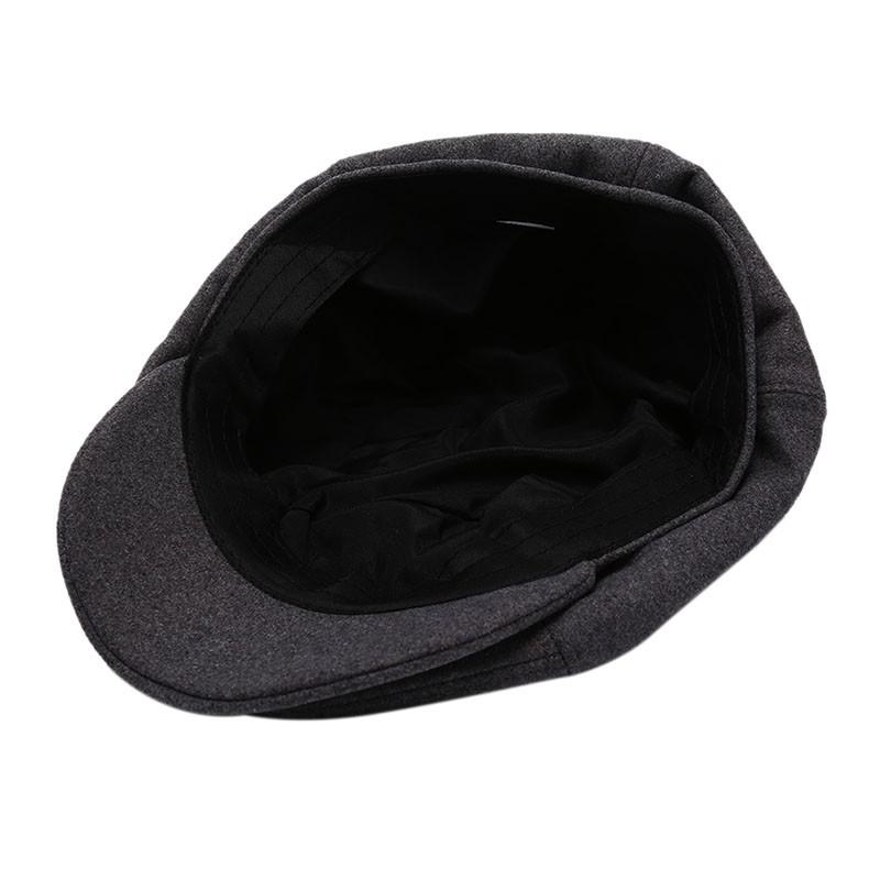 Peaky Blinders Style Grey Herringbone 40/% Wool Newsboy Flat Cap Gatsby Panel Hat