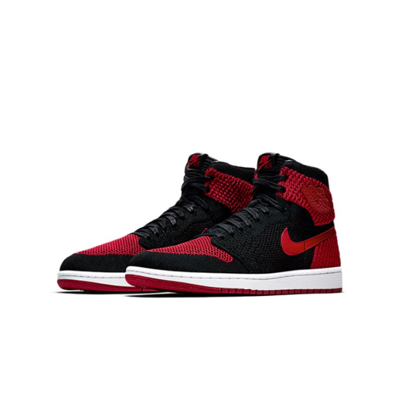 moda sklep najlepiej autentyczne Original New Arrival Authentic Nike Air Jordan 1 Flyknit AJ1 Men's  Breathable Ba