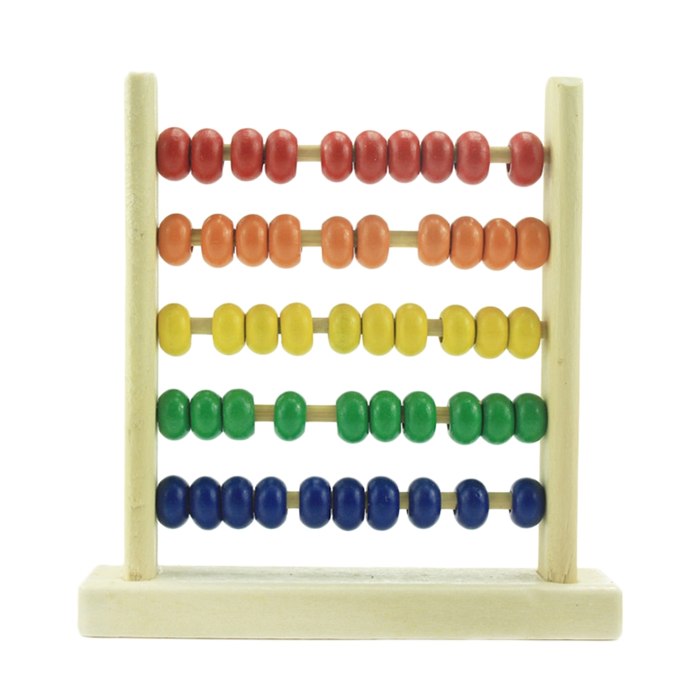 Wooden Abacus Toy Math Learning Abacus Colorful ...