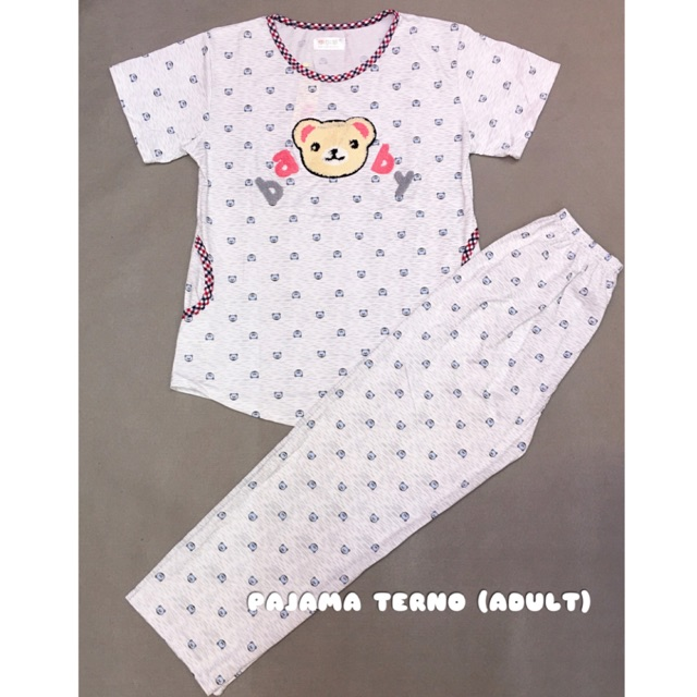 ab2dba54a Korean style Adult long sleve pajama terno