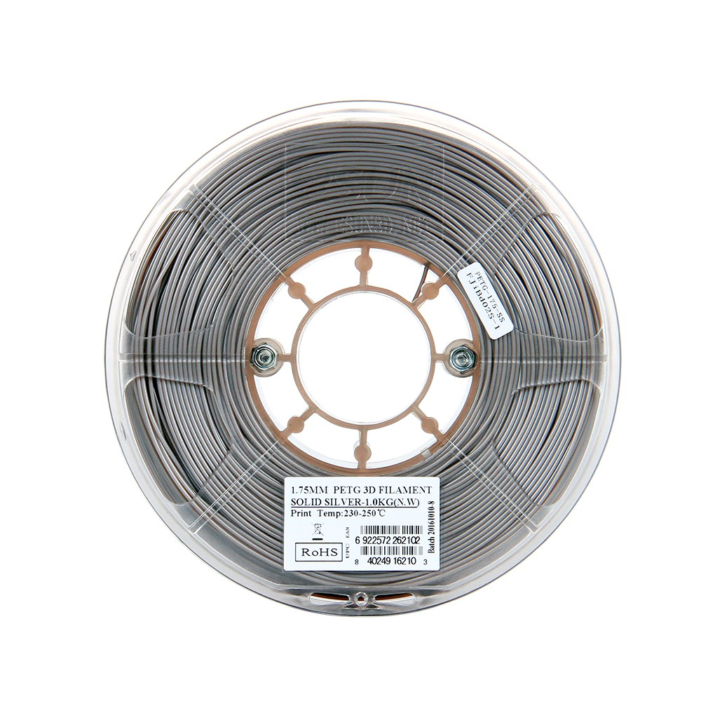 Energetic Filament 1 Rol Abs Ex; 1.75mm; Silver; Printing Temp:250°c; 1kg