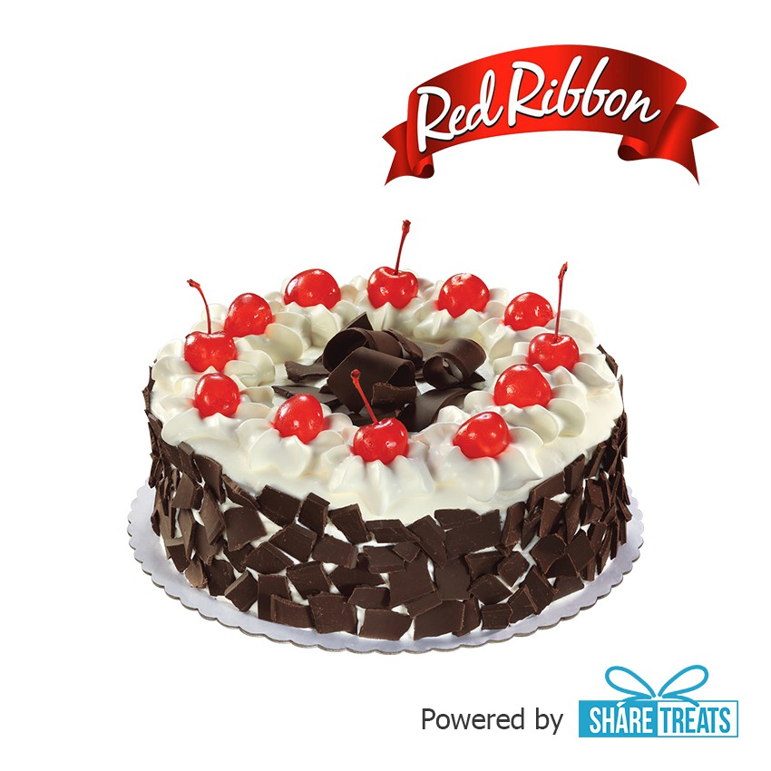 Fine Red Ribbon Black Forest Cake Reg Sms Evoucher Shopee Philippines Funny Birthday Cards Online Inifofree Goldxyz
