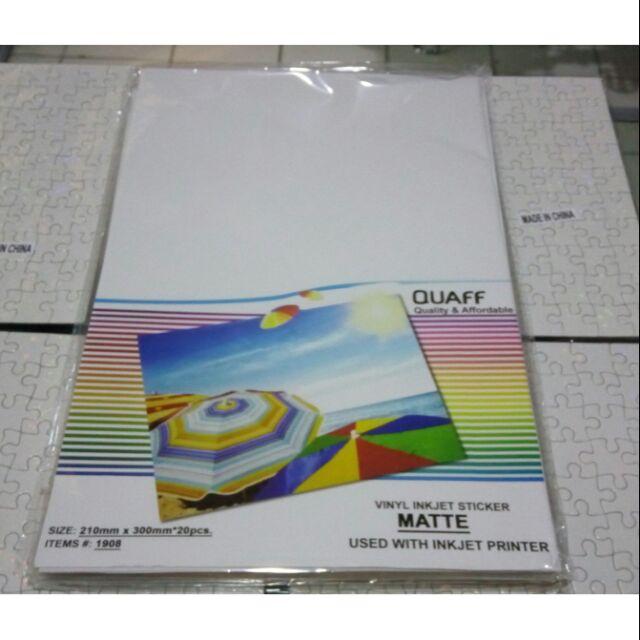 photo relating to Printable Vinyl Sticker Paper identify Printable Vinyl inkjet sticker matte A4 20sheets