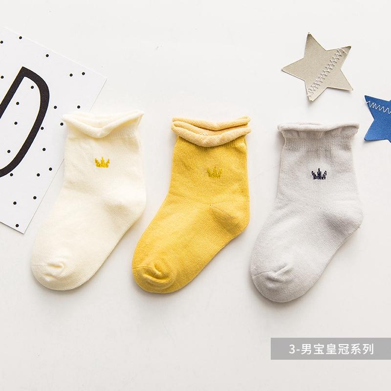 Infant Baby Socks Cotton Unisex Toddler Newborn Sock for Girls Boys 3 Pairs 4-12 Months 59