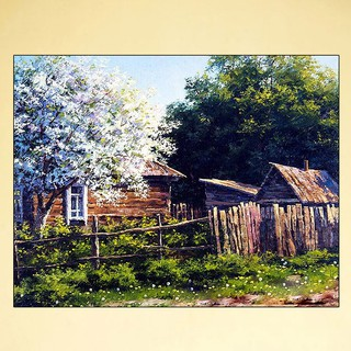 Tree House Diy Oil Painting By Number Canvas Home Decor