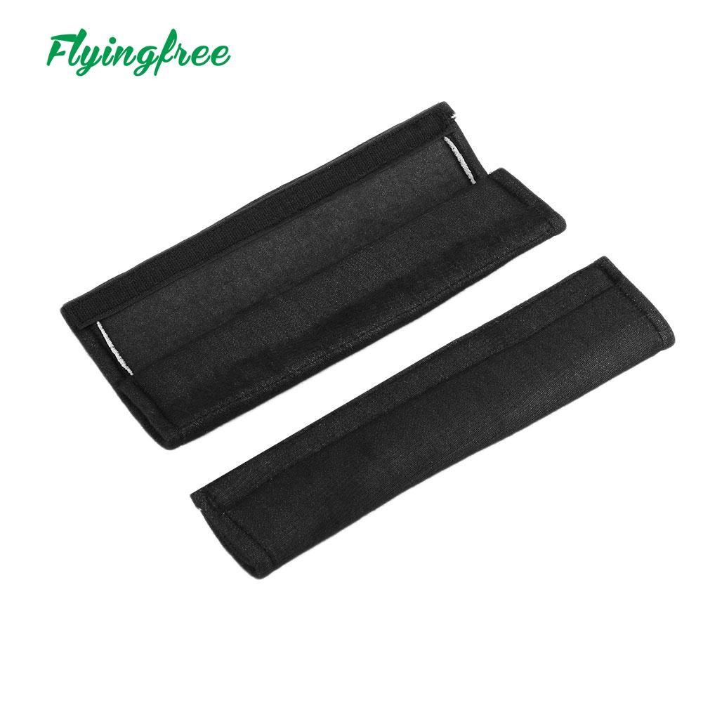2Pcs Car Soft Seat Belt Shoulder Pads Safety Covers Padded Cushion Black