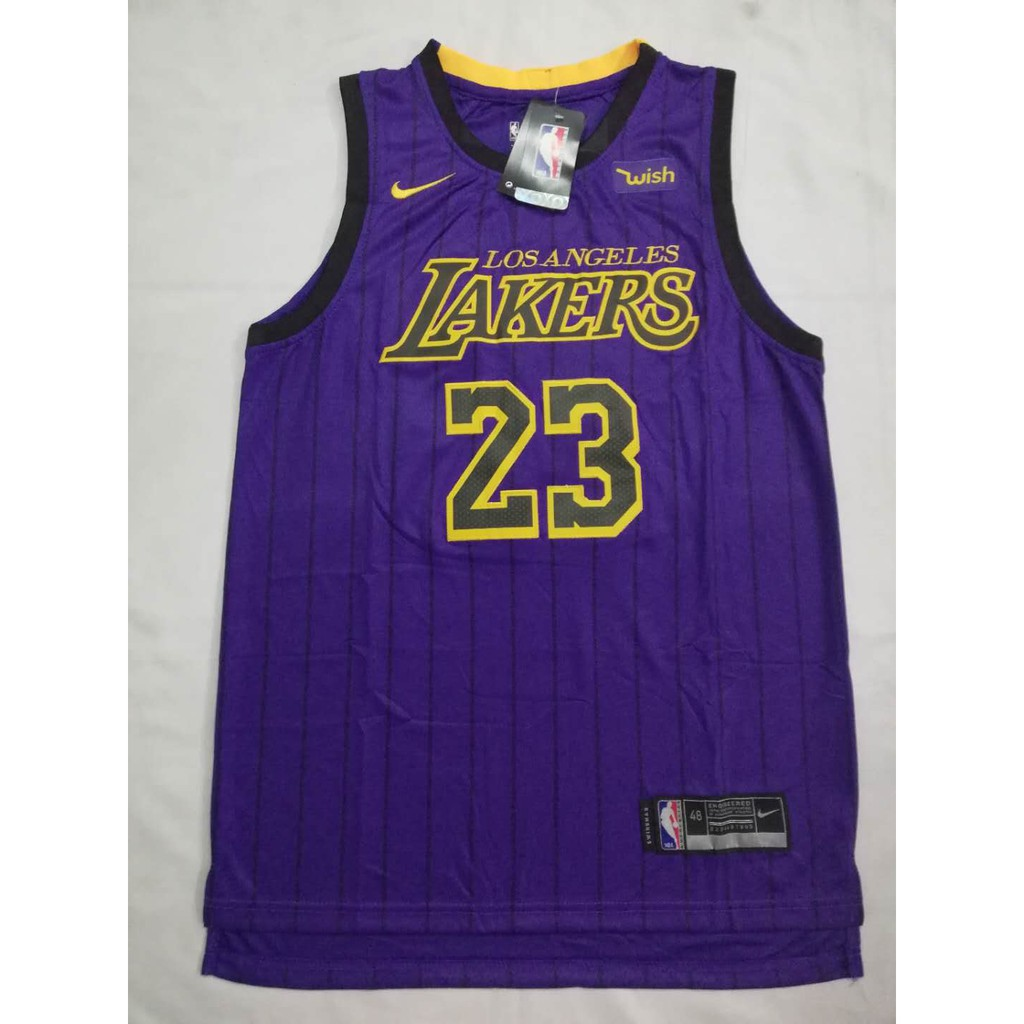 promo code 19ba9 28483 NBA Lakers 23 Lebron James City Edition Swingman Jersey(SALE)
