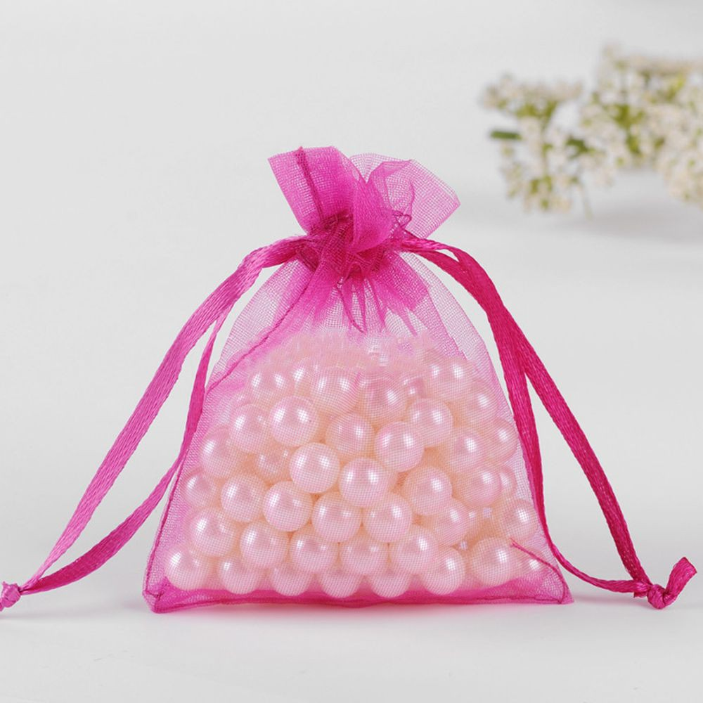 100pcs Organza Jewelry Pouch Bags Wedding Party Favor Gift Candy Bag ...