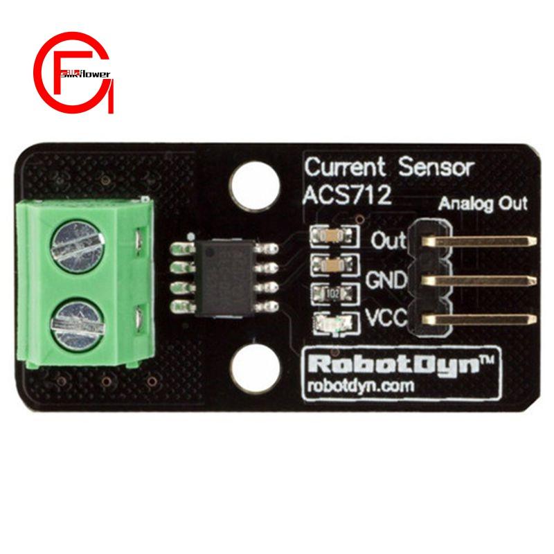 Robotdyn Lot Hall Current Sensor Module Acs712 20A Model For Arduino