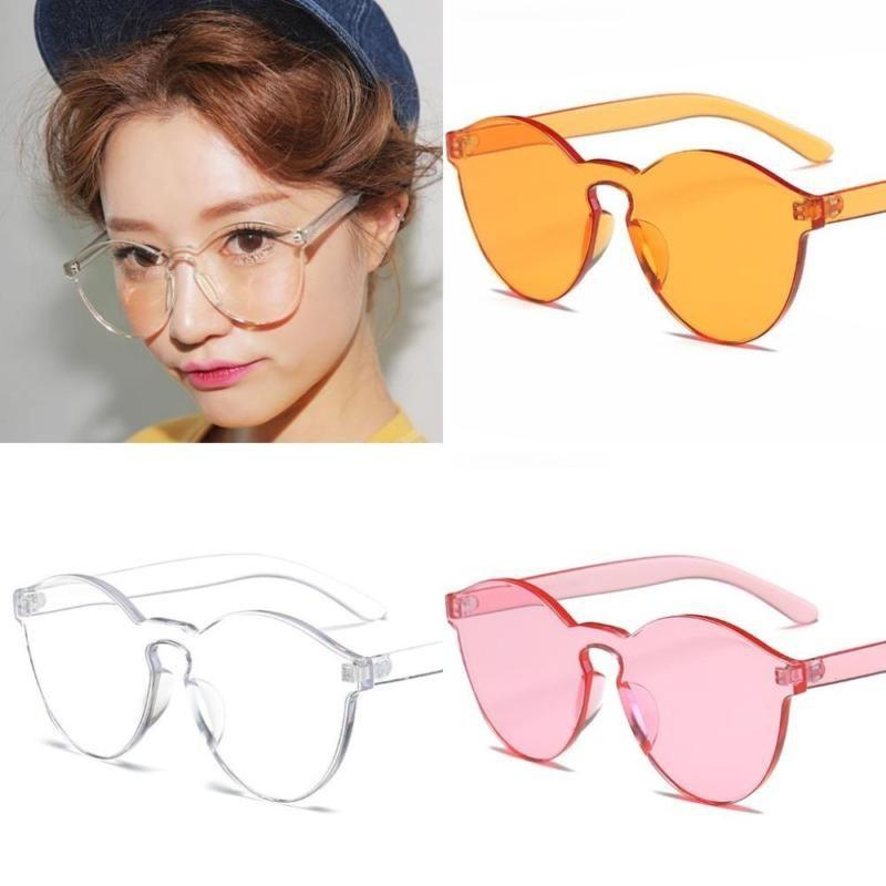 71f11d36aa Korea Retro Personality Dongdaemun Frameless Transparent Couple Sunglasses  Simple Hong Kong Fashion