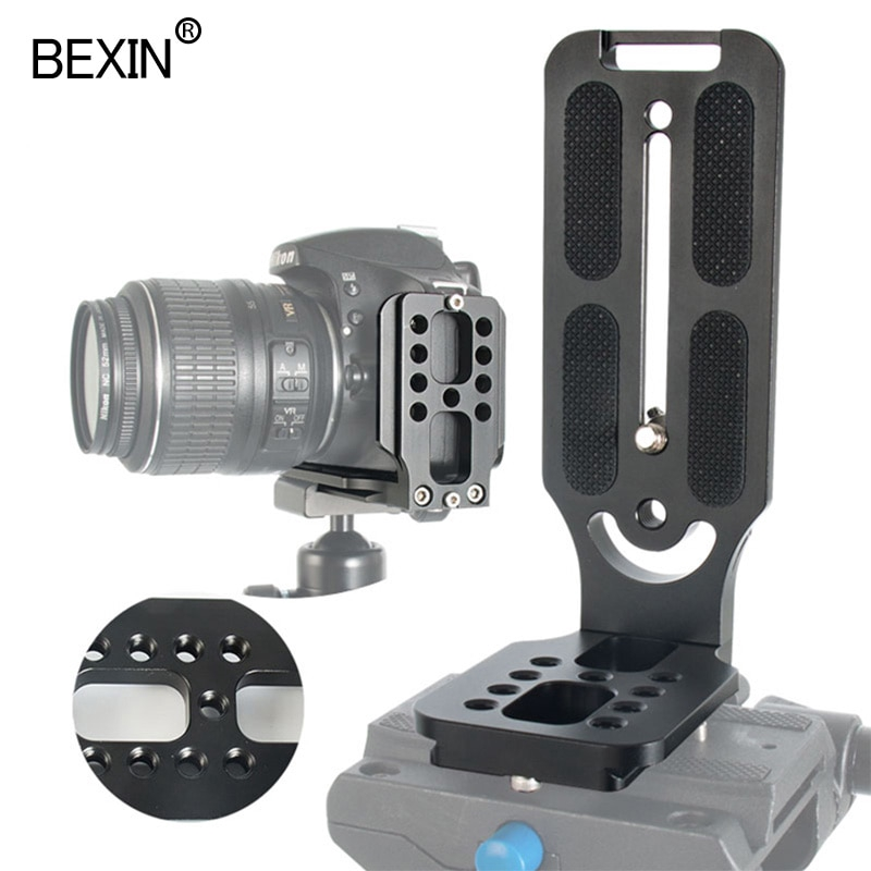 Universal Quick Release L Plate Bracket w//Hot Shoe for Canon Nikon Sony Camera