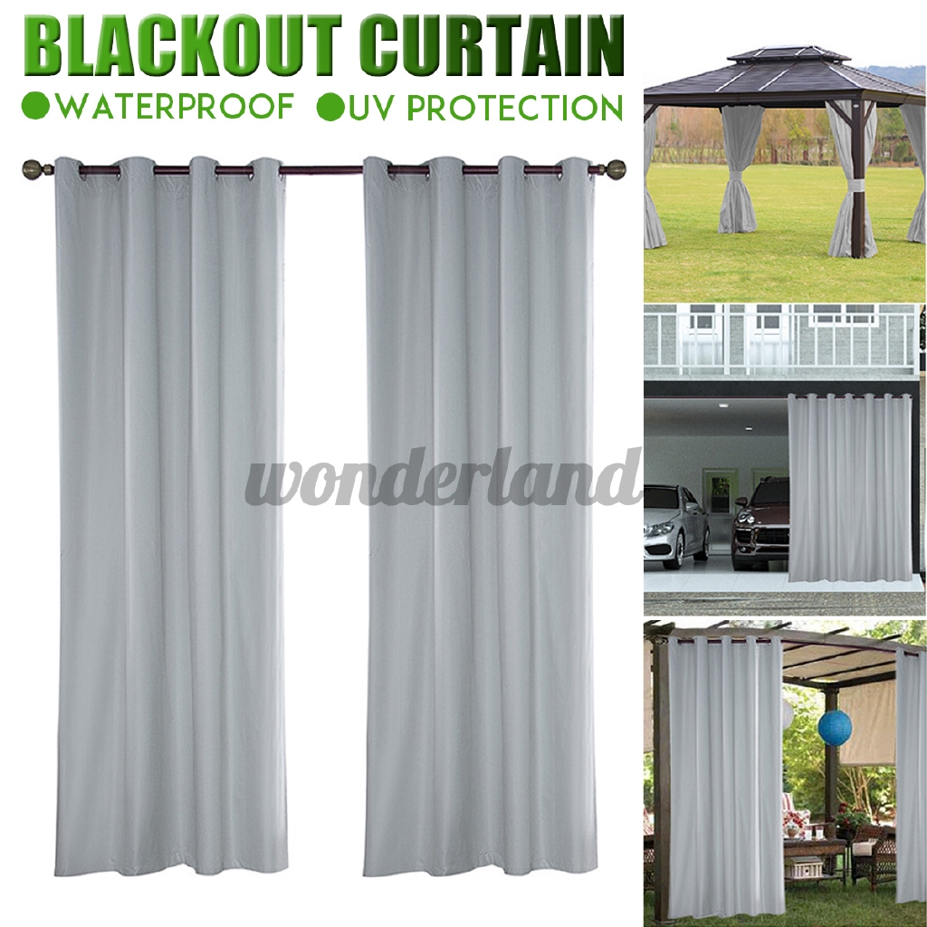 Pergola Patio Waterproof Blackout Curtains Home Shower Curtain Outdoor Curtains Shopee Philippines