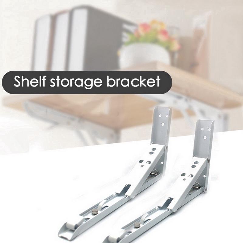 Storage Rack Shelf Support Triangle Shape Metal Angle Brackets 2pcs
