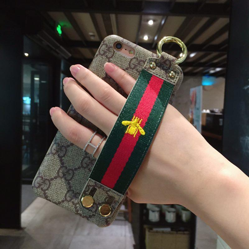 578c238697904 iPhone X 8 7 6S plus 5s SE Cases GUCCI Wrist Strap Xs Max Xr