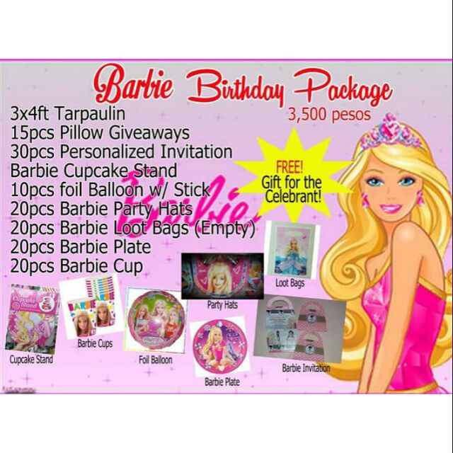 Birthday Package - Barbie