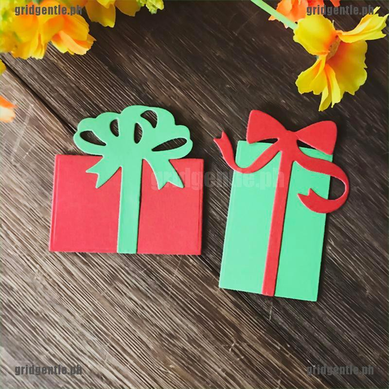 Christmas gift box Metal Cutting Dies For DIY Scrapbooking Card Paper Album 0cn