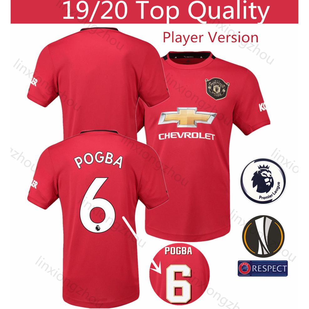 Top Quality 19 20 Manchester United Home Player Issue Jersey Football Jersey