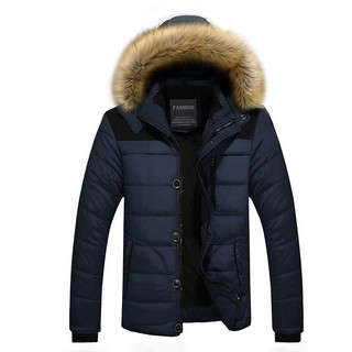 YUNY Mens Solid-Colored Leisure Warm Thick Oversize Down Jacket 7 S