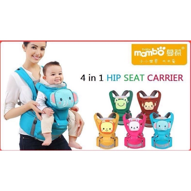 Cod Freesf Mambo Baby 4 In 1 Hip Seat Carrier