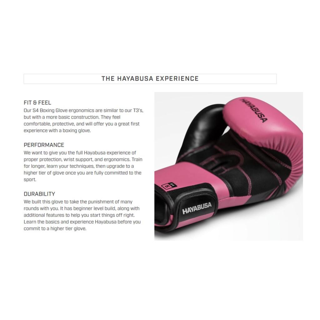 HAYABUSA S4 Pink Boxing Gloves Kit W/ FREE Hand Wraps & Bag