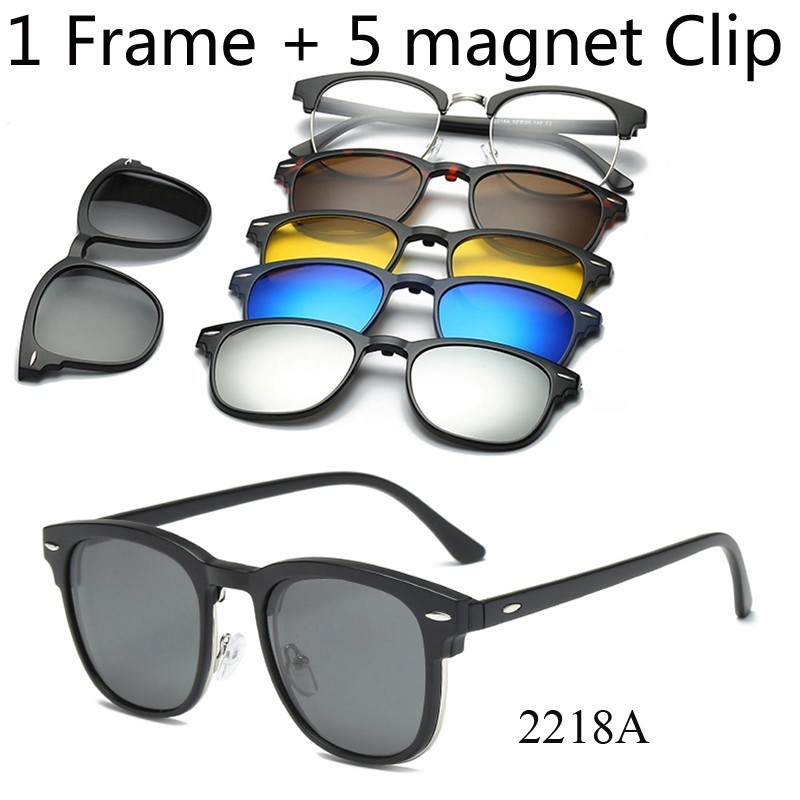d4da0baa927 Clip on Sunglasses Clip on Square Polaroid Lens Men Women