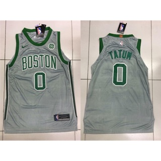 new product a11bb a81a2 team Boston tatum nba jersey gray number 0