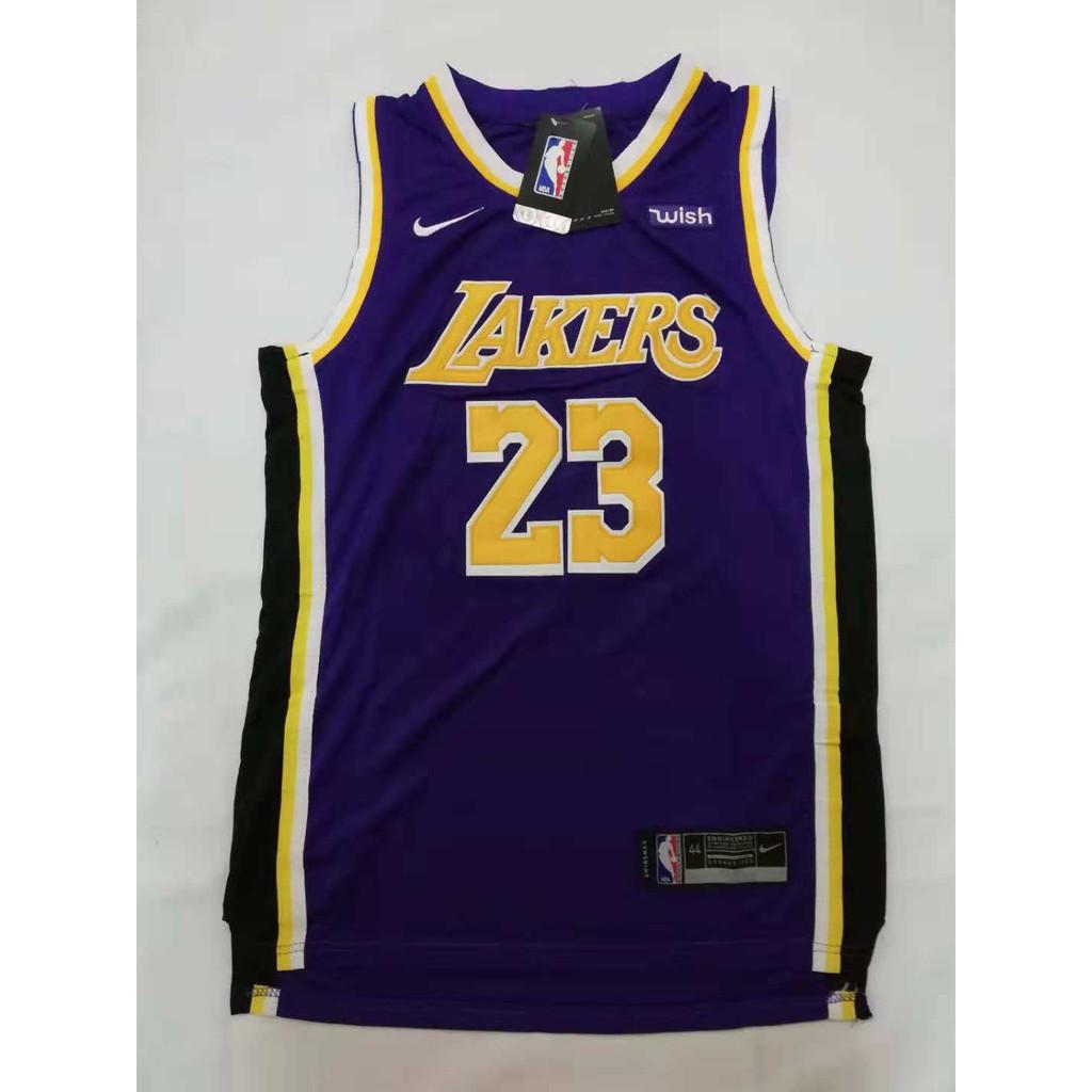 low cost ec869 f8def NBA Lakers 23 Lebron James Swingman Jersey