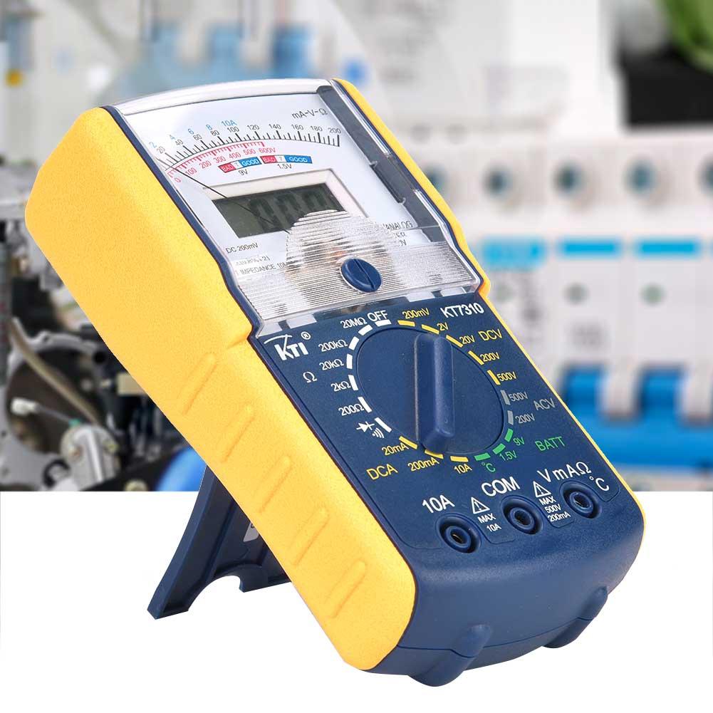 Digital Multimeter,KT7310 DC//AC Handheld Double-Display Analog Digital Portable Voltage Resistance Current Multi Testers Voltmeter Ammeter Ohmmeter