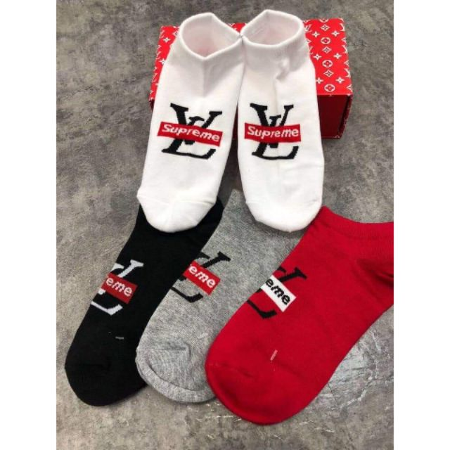 Louis Vuitton LV Supreme 5in1 Socks | Shopee Philippines