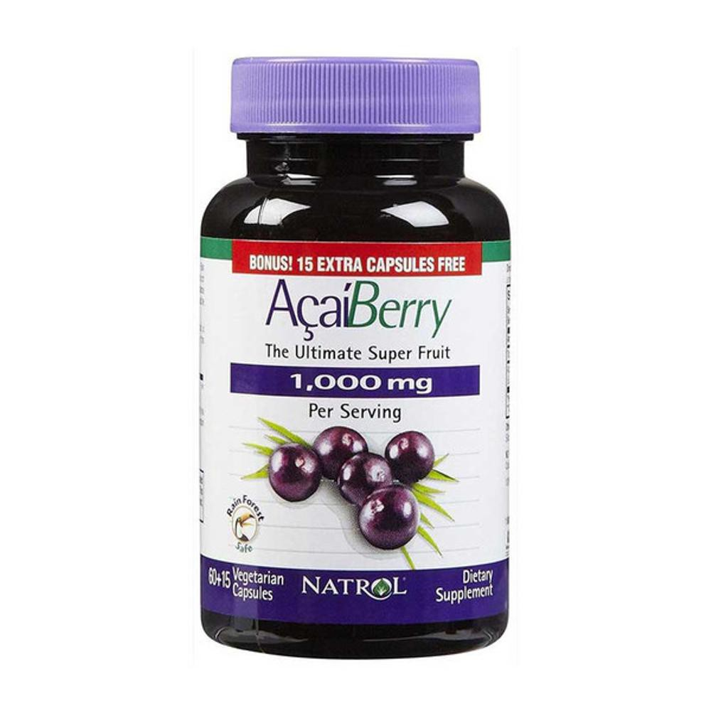 Natrol AcaiBerry Super Fruit 1,000mg Lose Weight Antioxidant | Shopee Philippines