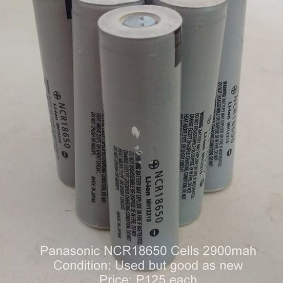 Panasonic NCR18650 li-ion battery
