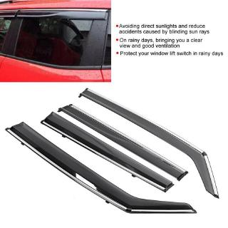 4pcs W// Stainless Window Visor Rain Sun Guard Vent Shade For 2016 Jeep Renegade