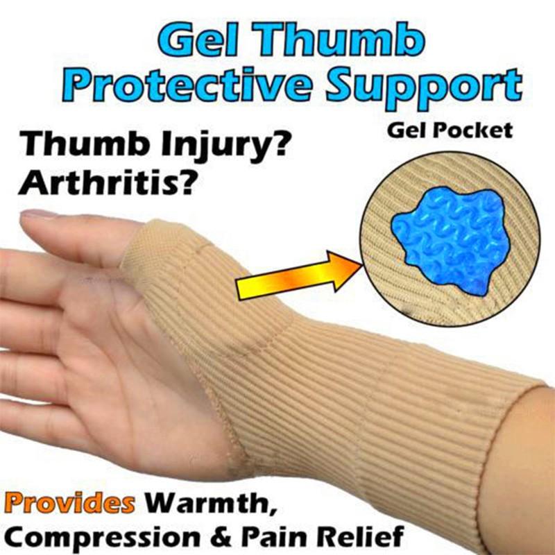 Gloves Gel Filled Thumb Hand Wrist Support Arthritis