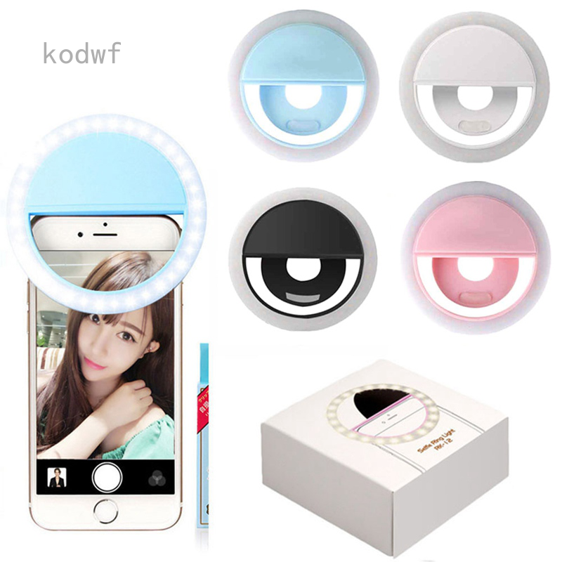 Portable USB Charge LED Camera Phone Photography Selfie Ring Light
