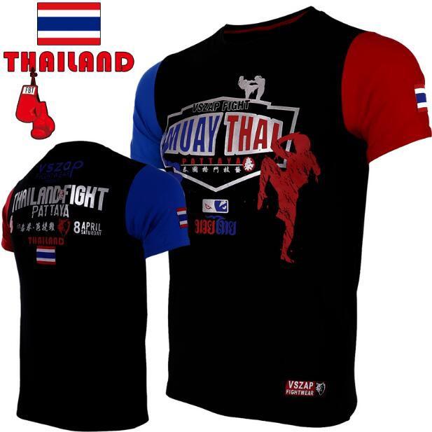 64f400fb6a55c fight MUAY THAI MUAY THAI combat short sleeve T-shirt broad