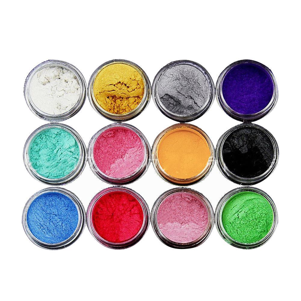 12 Color Set Mica Pigment Powder Perfect For Soap Cosmetics Resin Colorant Dye Shopee Philippines