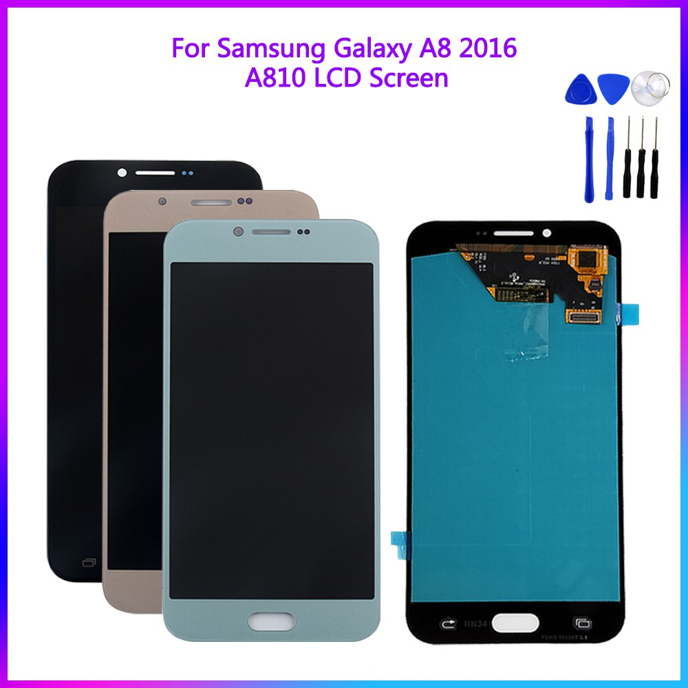 Original LCD Display For Samsung A8 2016 A810 Touch Screen