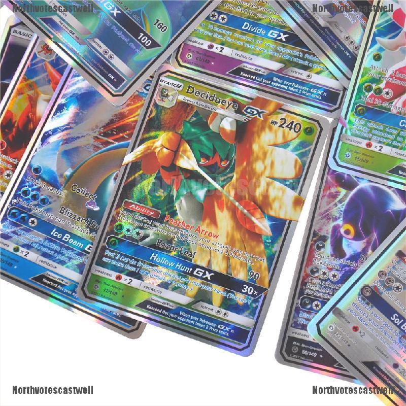 Northvotescastwell Pop 20pcs Pokemon GX Card All MEGA Holo Flash Trading Cards Charizard Venu NVCW