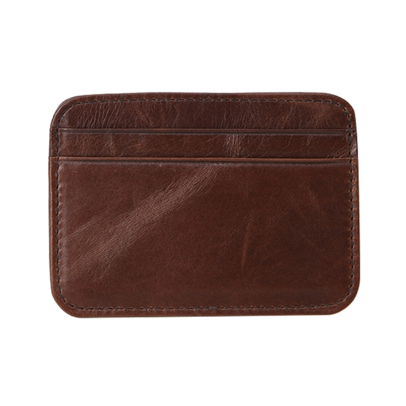 Slim Wallet Money Clip Credit Card Holder ID Business Mens Leather Coin Purse HI