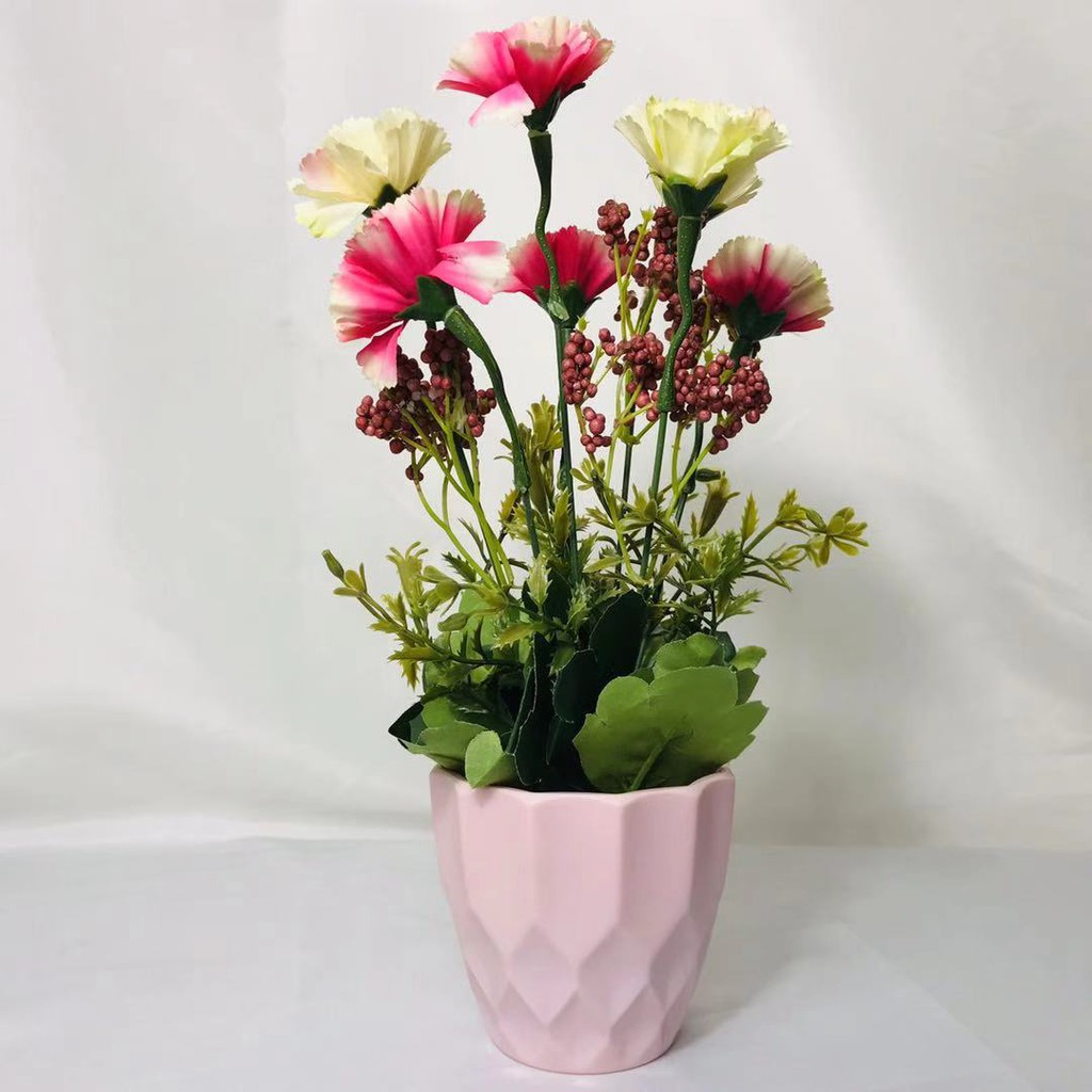 Artificial Flower With Vase Decoration For Table Home Office Shopee Philippines