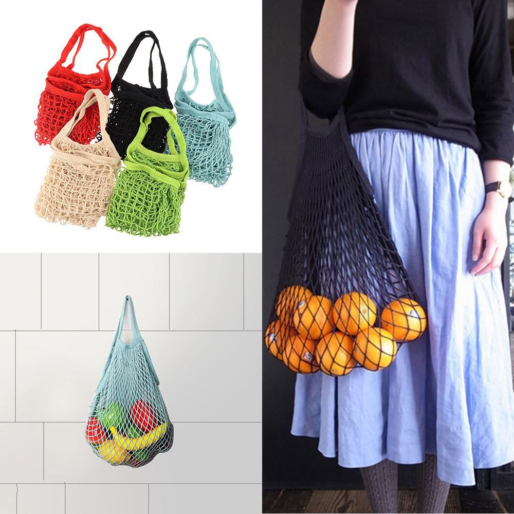 aea313cf31 SPOR❤Shopping Bag Mesh Elastic Supermarket Vegetable Storage ...