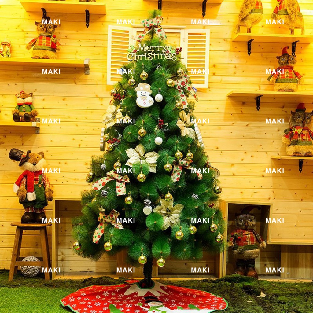 6ft 180cm Green Color Christmas Tree Decor Thick Maki Shopee Philippines