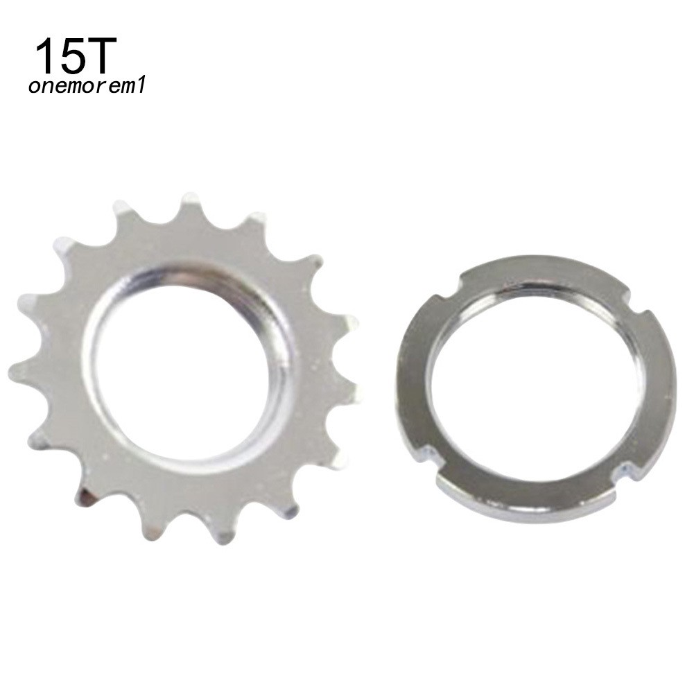 SILVER FIXED FIXIE WHEEL GEAR COG LOCKRING TRACK COG LOCK RING LEFT HAND SILVER