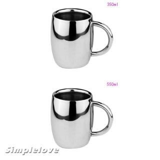 SIMPLELOVE Double Wall Insulated Mugs, Stainless Steel Tumbler, Coffee Mug, Double Wall Beer ...