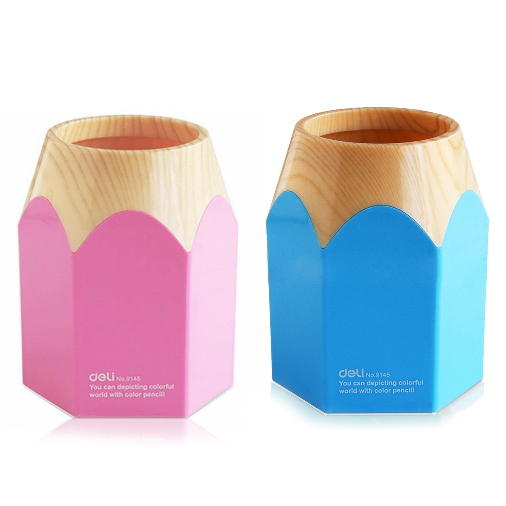 1f27e8dffc4 Tough Plastic Craft Gift Pencil Shape Pen Holder Container Stand Pot ...