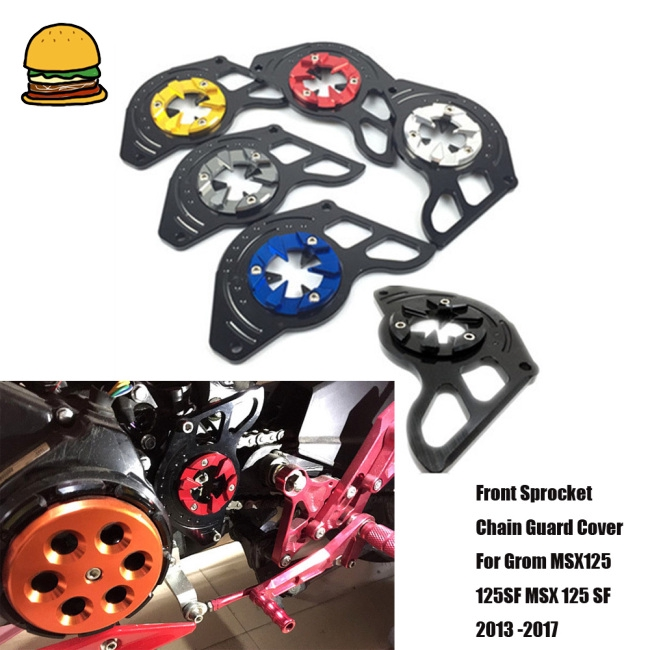 Front Sprocket Chain Guard Cover Left Side Engine Fit For Honda Grom MSX125//SF S