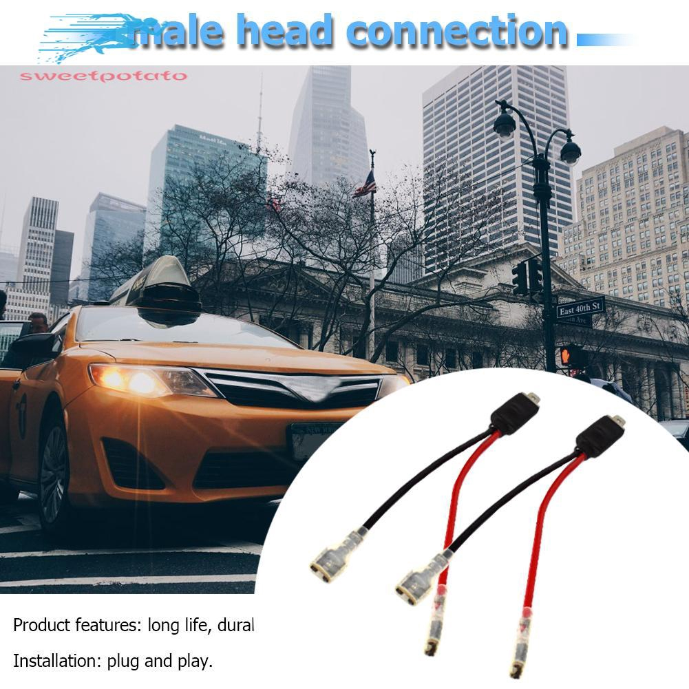 Sweet High End 2x H1 Led Headlight Wiring Harness Male Plug Single Diode Converter Cables Shopee Philippines
