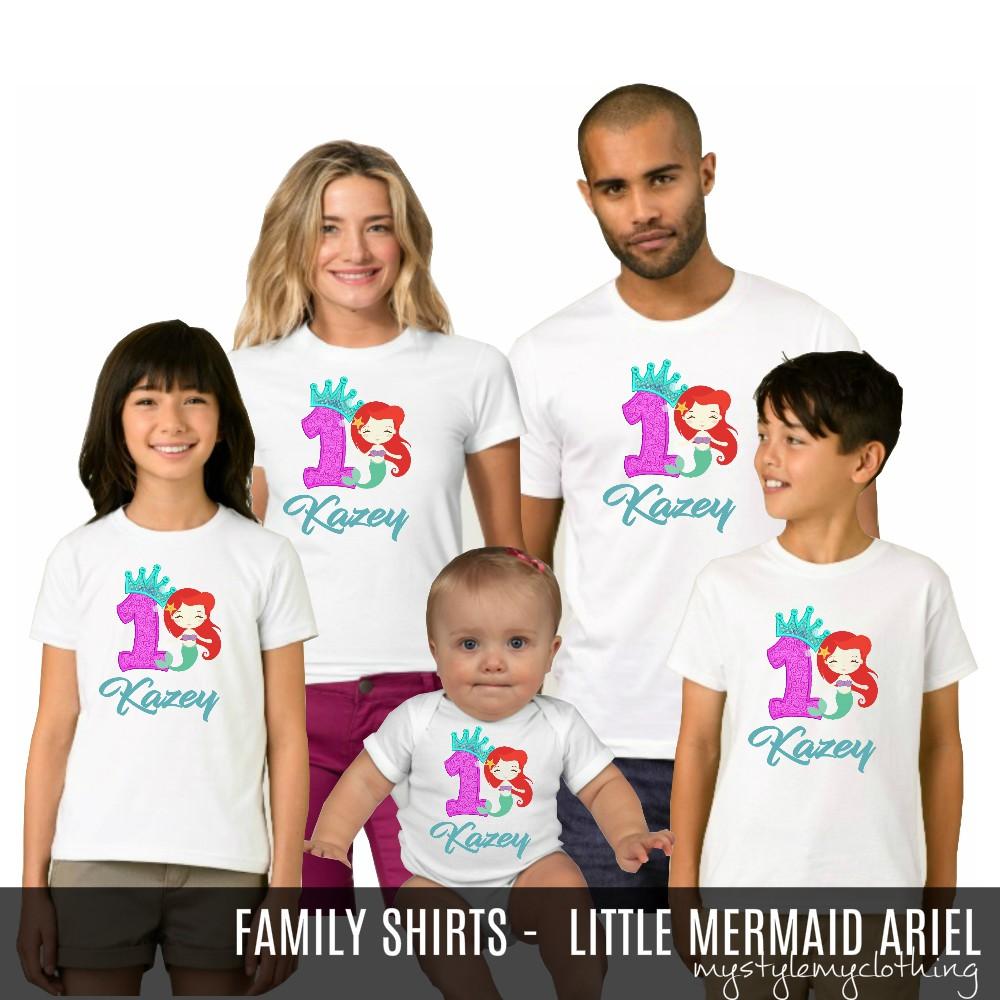 f8ade5c53f47 Custom Birthday Family Set Shirt - Mermaid | Shopee Philippines
