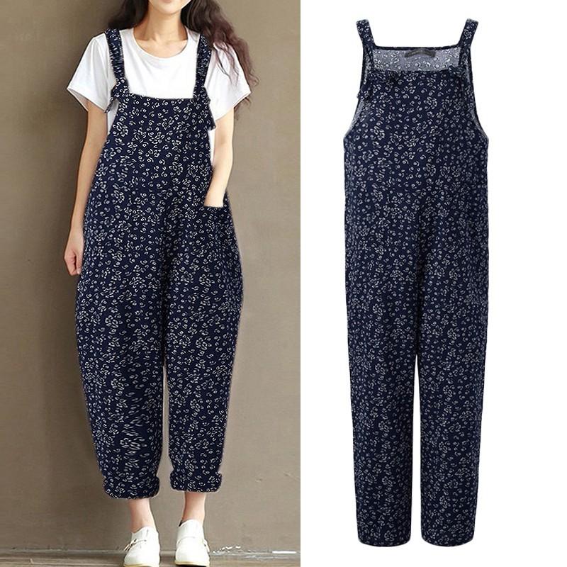 a9849949545 ZANZEA High Street Elegant Cotton Bib Pants Jumpsuits ZAN