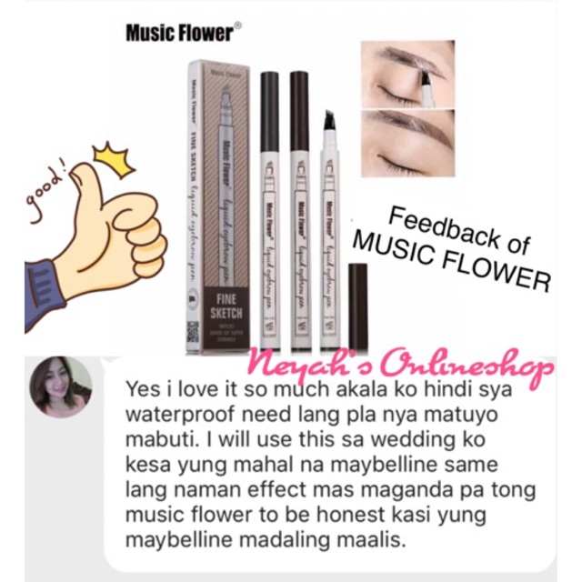 Music Flower Liquid Eyebrow Pen (waterproof)